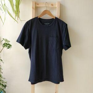 Everlane Pocket T-Shirt Navy Blue Large